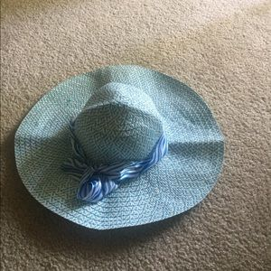 Women's foldable hat blue